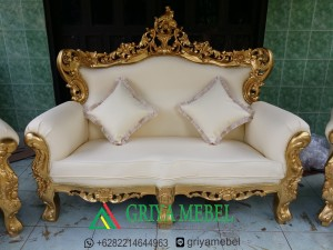 luxury furniture , sofa eleghant jepara, Kursi Pelaminan Duco putih, Sofa Pelaminan Duco putih, furniture gold, finishing gold, italian furniture, korean furniture