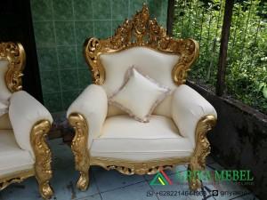 luxury furniture, sofa eleghant jepara , Kursi Pelaminan Duco putih, Sofa Pelaminan Duco putih