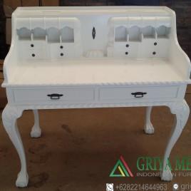 Meja Angpao Chippendale Duco Putih