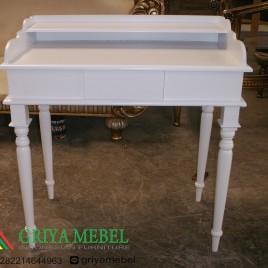 Meja Gallery Sorong Duco Putih
