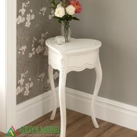 Meja Hias Cinta Duco Putih