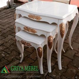 Meja Susun Rose Duco Putih