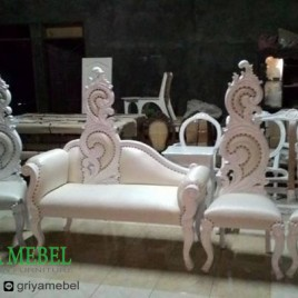 Set Sofa Wedding Pocong Duco Putih