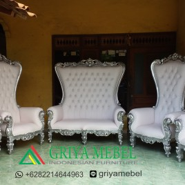 Set Sofa Wedding Syahrini Silver