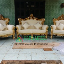 Set Kursi Sofa Mewah Royal Gold