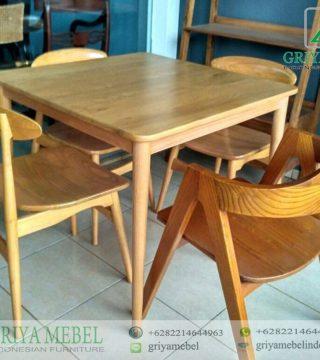 Set Meja Cafe 4 Kursi Minimalis Griya Mebel