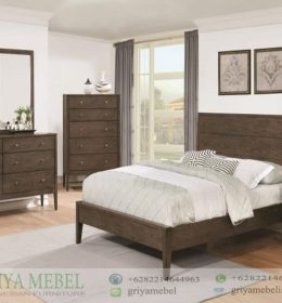 Set Ruang Tidur Retro Minimalis