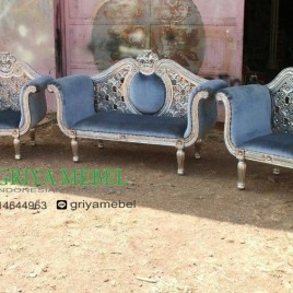 Set Sofa Wedding Kartini Ukir Silver