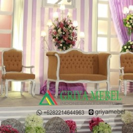 Set Sofa Wedding Modern Duco Putih