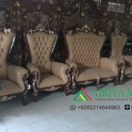 Set Sofa Wedding Syahrini Jati Motif Bunga