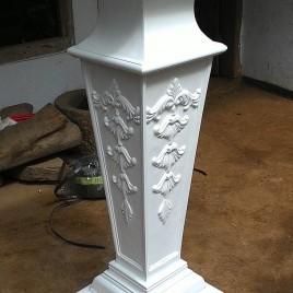 Standing Flower Cube Duco Putih