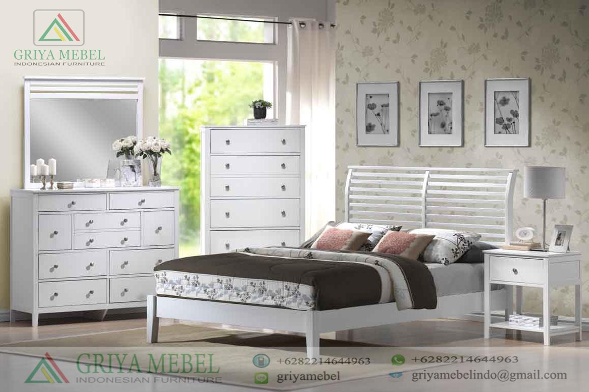 Set Ruang Tidur Modern Duco Putih