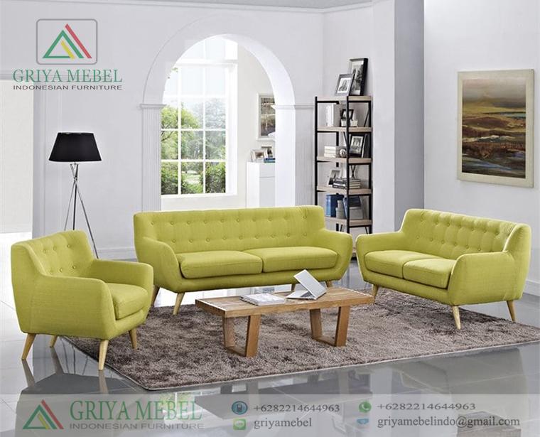 Set Sofa Tamu Retro 3 2 1 Meja Griya Mebel
